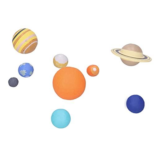 Modèle du Système Solaire - 9 Pièces Modèle de Planète D'astronomie Modèle D'enseignement du Système Solaire Modèle D'univers pour les Enfants et les Adolescents, les Filles et les Garçons