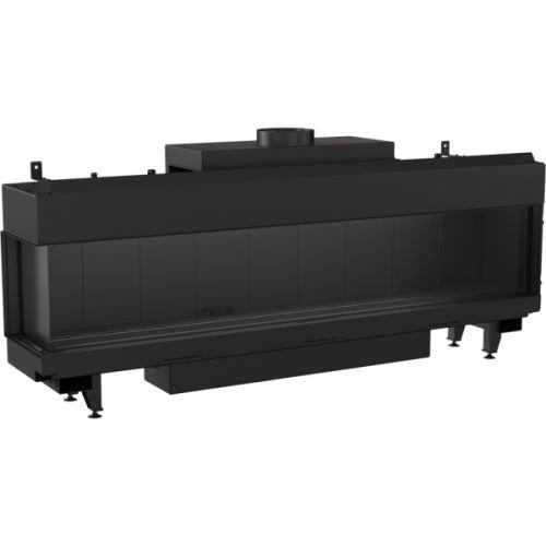 Chimenea de gas Kratki LEO 200 Negro para gas natural LPG Control Térmico Tipo LPG