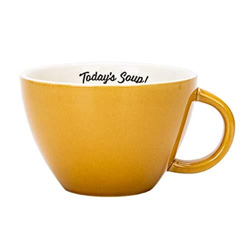 SHUTING2020 Tazas De Café Taza de café de cerámica con la manija, Desayuno Bowl, Agua/té/Tazas de Leche/Jugo/Avena, Simple, Creativo, Regalos de Colores, Amarillo, Rojo, Blanco Tazas De Desayuno