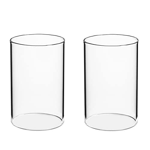 Volldra® Portavelas de cristal, juego de 2 unidades, sin base, 11 cm...
