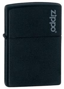 Zippo, accendino Zippo, nero opaco con logo, personalizzabile