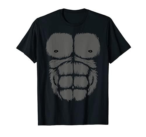 Disfraz de Gorila Pecho de Mono Vientre de Mono Hombres de Camiseta