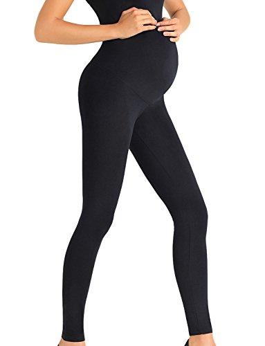 Trendy Legs Dorothy Leggings De Maternidad Largos Lisos para Mujeres - Hechos En La UE, Negro,M
