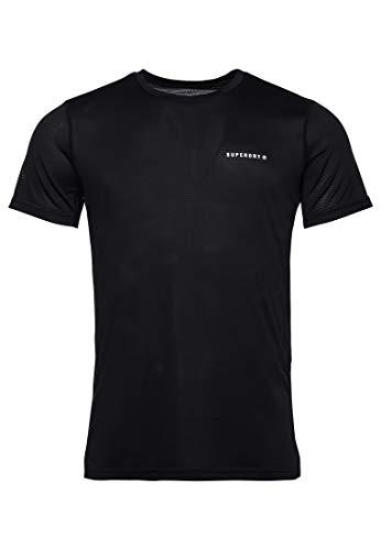 Superdry Herren Training Active Tee T-Shirt Gr. M, Schwarz