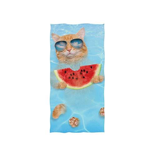 N/A Katzen- und Hunde-Handtuch mit Sonnenbrille, sehr weich, für Badezimmer, 81 x 130 cm