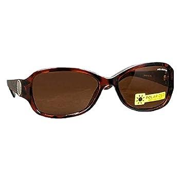 Foster Grant Decision Women Oval Amber Lens Polarized Reduce Glare Sunglasses