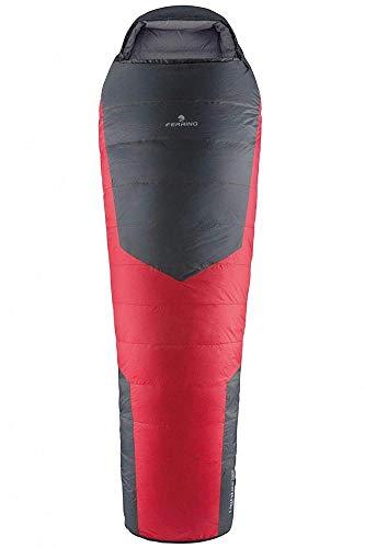 Ferrino Lightec Duvet, Sacco a Pelo Rosso e Nero, 800 gr