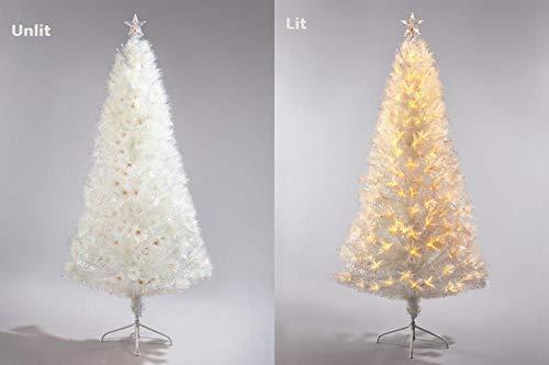 Snowtime Corona Weihnachtsbaum, Glasfaser, mit weißen LEDs, 1,5 m