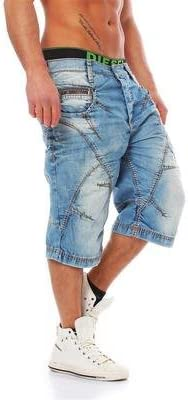 Cipo & Baxx Trenton Mens Shorts Jeans Denim Blue C-0090