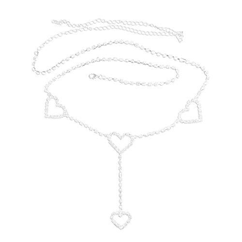 Lurrose vrouwen buik taille ketting bikini lichaam keten taille riem voor bruid danser model jurk