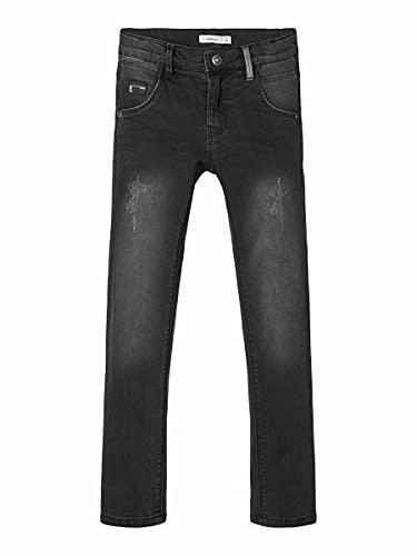 NAME IT Jungen Nittrap Skinny Dnm Pant Nmt Noos Jeans, Dark Grey Denim, 134 EU