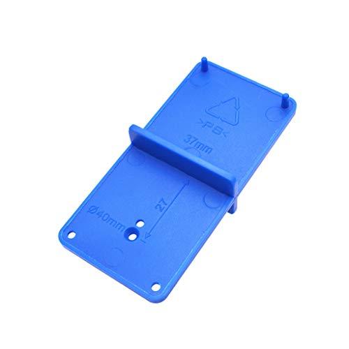 1 guía de perforación – Plantilla de perforación 35 mm 40 mm – Broca con bisagra – Localizador de agujeros