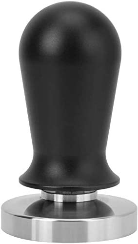 Tamper de caf/é Acero inoxidable Color negro Base plana Herramienta de prensado de tamper de caf/é 54mm