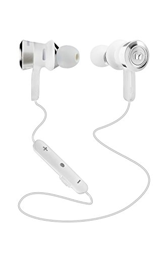 Monster Clarity HD–Auriculares in-Ear Bluetooth Color Blanco/Cromo