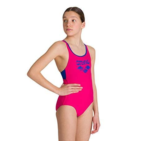 ARENA Mädchen Sport Badeanzug Spray, Freak Rose-Royal, 152