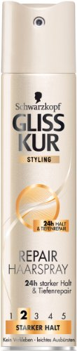 Gliss Kur Repair Haarspray 3er Pack (3 x 250 ml)