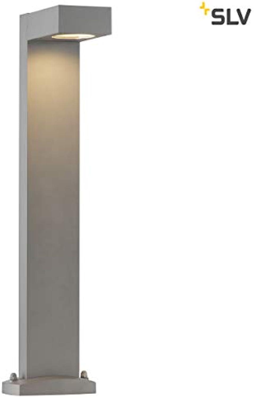 SLV LED Pollerleuchte QUADRASYL  Design Auen-Standleuchte, stilvolle Auenbeleuchtung  Outdoor LED Wege-Leuchte, Auenleuchte, Weg-Beleuchtung, Garten-Lampe, Gartenbeleuchtung  GX53 B-A++ max 11W