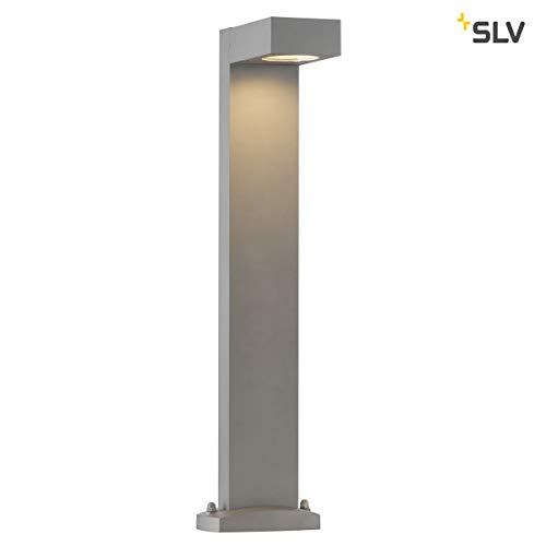 SLV LED buitenlamp QUADRASYL | Design buiten-staande lamp, stijlvolle buitenverlichting | Outdoor LED padverlichting, padverlichting, tuinlamp, tuinverlichting | GX53 B-A++ max. 11W
