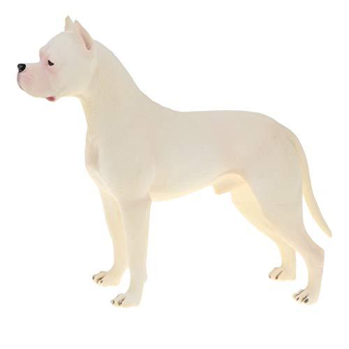 KESOTO Giocattolo Cane Figurine Animale Domestico Cucciolo Decor Casa Scrivania Plastica Regalo - Dogo Argentinos