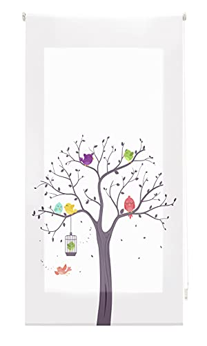 Blindecor Estor Enrollable translúcido Infantil, Birds, 90x180 cm ( Ancho x Alto), DIGITAL