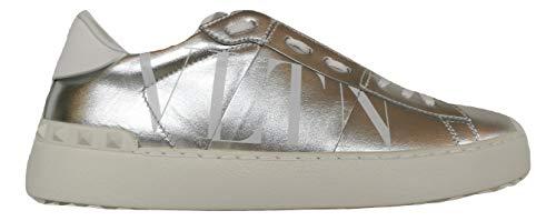 Valentino Sneakers UW2S0781plata - Zapatillas deportivas para mujer Plateado Size: 39 EU