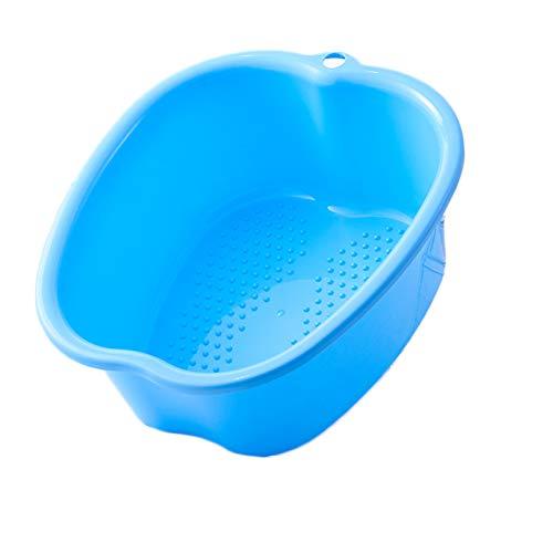 Shinyeagle FußBad Spa Schüssel,Fußpflege Bad Plastik Wanne Fuß Aufweichen Schale Fußmassageteilchen können beim Massieren helfen, lindern Müdigkeit und entspannen die Stimmung (Blue)