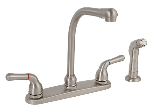 PREMIER GIDDS-120171LF Sanibel Kitchen Faucet with Two Handles and Side Spray, Brushed Nickel, Lead...