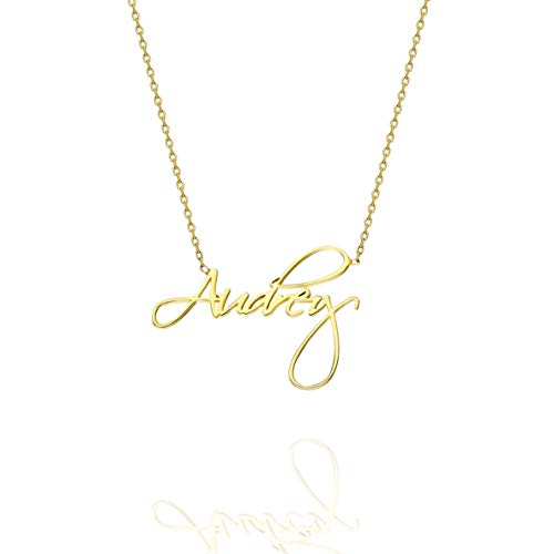 925K Sterling Silver Personalized Name Necklace, Elegant Name Necklace, Name Necklace, Silver Name Necklace, Name Necklace, 18K Gold Plated Necklace (55, 18ct Rose Gold Filled)
