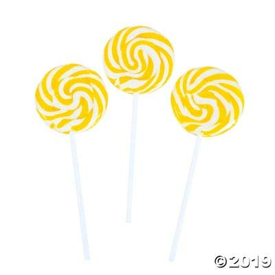 Yellow Swirl Pops (2 dz)