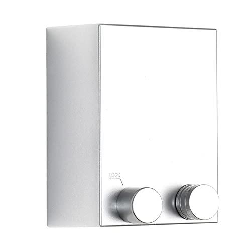 4 Meter ausziehbare Wäscheleinen, Wäscheleine Ausziehbar für Innengebrauch Wand Wäscheleine mit ABS Gehäuse und Einstellbarer Stahleinlage Edelstahl Wäsche Leine (Silver)