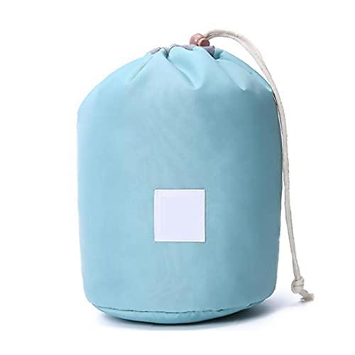 RRunzfon Viaje Bolsa de cosméticos de Maquillaje Barril Bolsa de Nylon Azul Cielo Mujeres Multifuncional Plegable de Tocador Cubo, Bolsa de Cosméticos