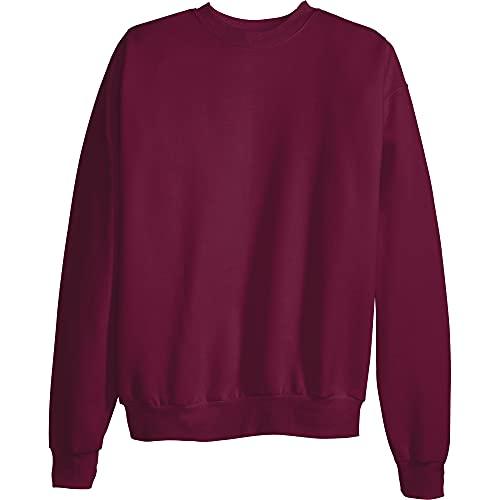 Hanes Men's EcoSmart Fleece Sweatshirt, Maroon, Large