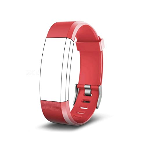 endubro Bracelet Rechange pour ID115 HR Plus Fitness Tracker (Rouge)