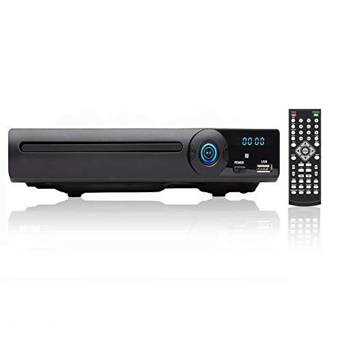 LONPOO Reproductor de DVD para TVs, All Región Gratis, HDMI/Scart/RCA Salida conectada, con USB, Mic Puerto y Control Remoto (LP-078)