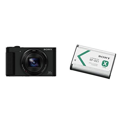 Sony Cyber-Shot DSC-HX90 Negro - Cámara compacta de 18 MP + NP-BX1 - Batería para Cámara de Fotos para DSC-RX100, DSC-RX1 (Li-Ion 1240 mAh), Blanco