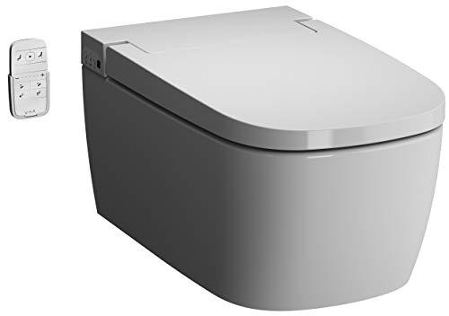 Vitra V-CARE Basic 1.1 spülrandlos mit Bidetfunktion, Dusch WC inkl. Softclose WC-Sitz, Entkalkungsfunktion&Kinderfunktion
