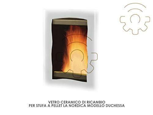 La Nordica Extraflame keramiek vervangglas voor pelletkachel Duchessa en Duchessa
