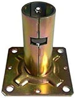 【20個入】 単管ベース ワンタッチ固定ベース Φ31.8用 J-1107 単管パイプ ジョイントベース 専用工具不要 パイプくめーるシリーズ just