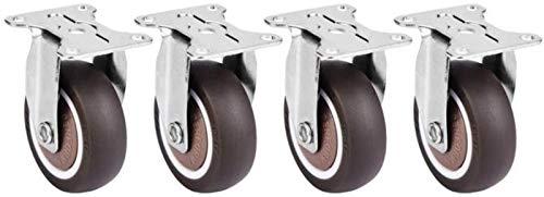 ZJDU Räder für Möbel Castor 4 stück 2 Zoll Universal Rollen für Plattformwagen Stuhl geräuscharme TPE Gummi abnehmbare stummstuhl Feste gummisträger DIY ersatzteile