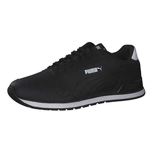 PUMA Unisex ST Runner v2 Full L Sneaker, Black Black, 42.5 EU
