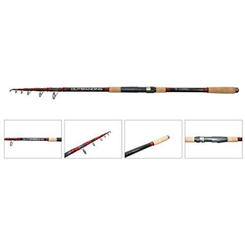 NECO Angelrute Karpfenrute Outstanding Kohlefaser Länge 3,9M, Wirft Gewicht 80-150G BAU von 7 Komponenten Berufsfischen + GRATIS Etui 11160