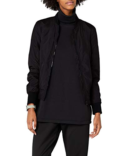 Urban Classics Ladies Light Bomber Jacket - Chaqueta Mujer, color Negro (Black 7), talla 42 (Talla del fabricante: XL)