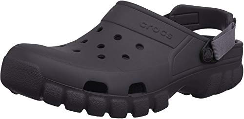 Crocs Offroad Sport - Zuecos de sintético para hombre, Nero (Black/Graphite), 42-43