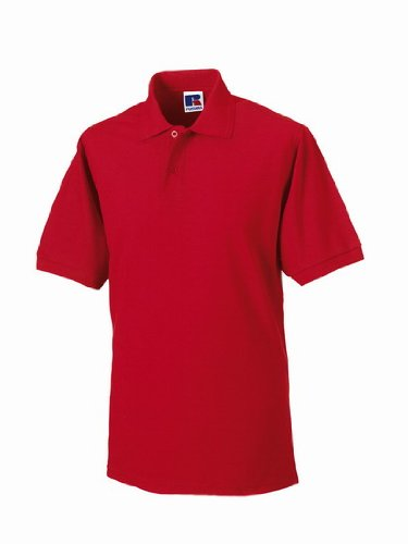 Russels Workwear - Polo - - Polo - Col polo - Manches courtes Homme - Rouge - Classic Red - X-large