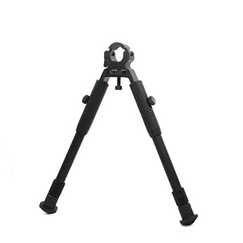 JINSE Clamp-on Bipod,9-11 Inches Dragons Claw Universal Foldable Lightweight Bipod, Barrel Size: 0.43'' to 0.74''