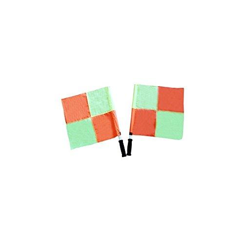 Voetbal vlaggen linier set 2 vlaggetjes