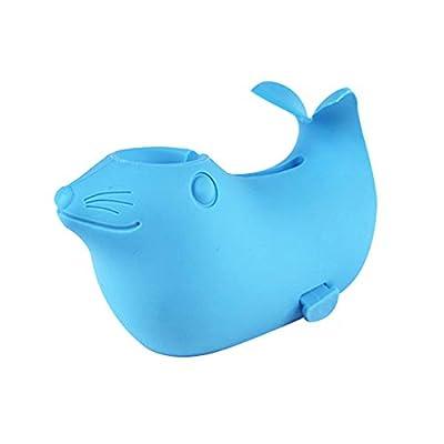 DYSONGO Soft Bath Spout Cover Seal Bathtub Faucet Cover for Kids Blue