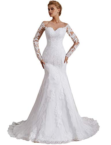 Lace Wedding Dress Off the Shoulder Sleeves