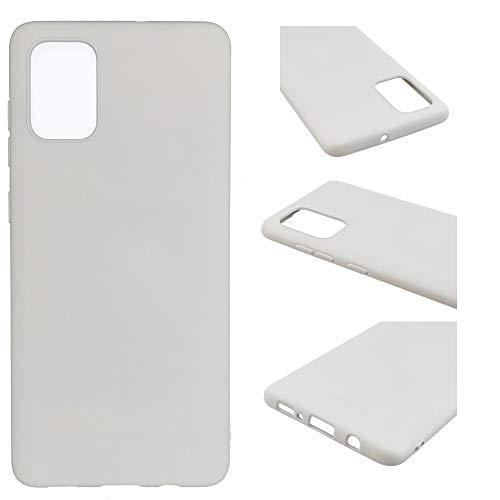 CoverKingz Handywelt-Niefern - Carcasa de silicona para Samsung Galaxy A52, color blanco mate