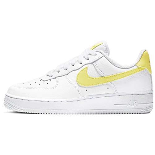 Nike Damen WMNS Air Force 1 '07 Le Basketballschuhe, Mehrfarbig (White/Yellow Pulse/White 153), 42.5 EU